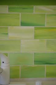 crafty faux glass tile backsplash