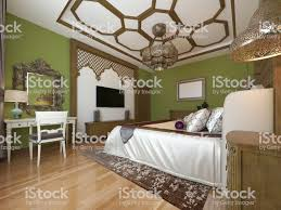 100 Bedroom Green Walls East In Arab Style Wooden Headboard And