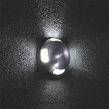 dome 4 3 watt recessed led wall light