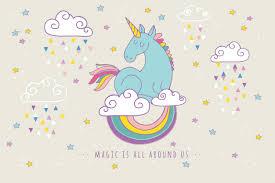 Livingwalls Photo Wallpaper Rainbow Unicorn 470933