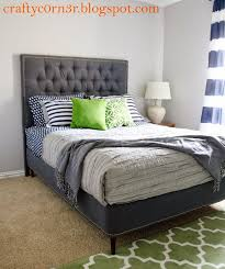 Simple Platform Bed Frame Diy by Best 25 Box Spring Cover Ideas On Pinterest Upholstered Box