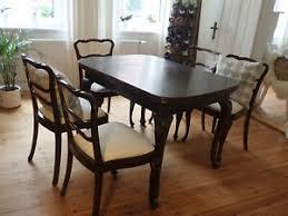 details zu chippendale esszimmer sitzgruppe tisch und 6 stühle ca 1920