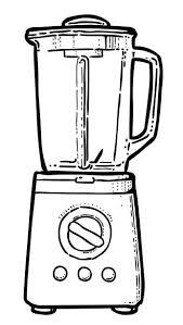 Cartoon Image Of Blender Vector Art Illustration