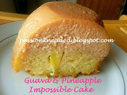 Passion Kneaded Guava and Pineapple Impossible Cake for BundtBakers