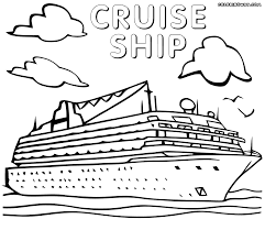 Ship Titanic Coloring Pages