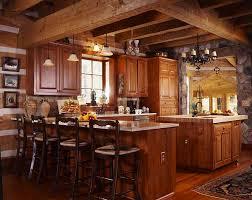 beautiful log home kitchens
