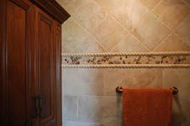 mosaic tile trim contemporary bathroom cleveland by