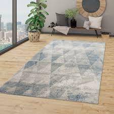 wohnzimmer teppich boho style rauten design