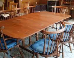 Ethan Allen Mahogany Dining Room Table by Dining Room Set Etsy