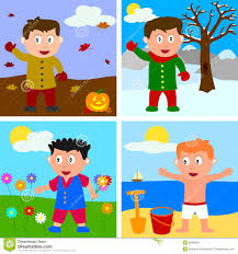 Boy Clothing Seasons Clipart