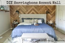 Diy Herringbone Accent Wall Reclaimed Wood