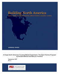 100 North American Trucking PDF A Single Market Experiment The Open
