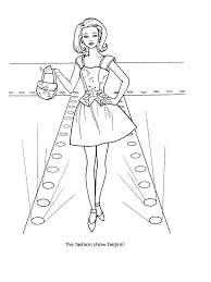 Free Old Fashioned Christmas Coloring Pages Barbie Fashion Car Full Size