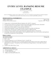 Resume Samples For Banking Professionals Best Summary Examples Entry Level Sample Create A