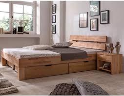 eternity möbel futonbett schlafzimmerbett massivholzbett kernbuche buche geölt bett inkl 2 x bettkasten liegefläche 180 x 200 cm