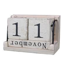 holz perpetual kalender retro rustikalen design wohnzimmer