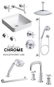 Kohler Villager Bathtub Drain by It U0027s All About The Chrome For The Master Bathroom Kohler Purist Line