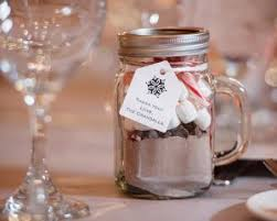 Hot Chocolate Mix With Chips Marshmallows And Candy Canes In A Mason Jar