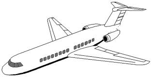 Elegant Airplane Coloring Page 41 With Additional Pages For Adults