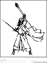The Hobbit Coloring Pages Gandalf Throughout
