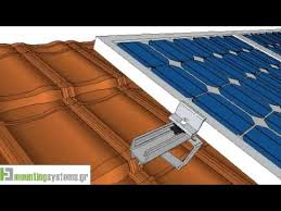 how to install solar panel rails to tile roofs