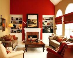 Red Accents For Living Room Themed Designs More Yellow With Accent Wall