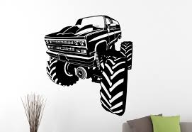 100 Monster Truck Wall Decals Decal Car Stickers Home Interior Design Etsy