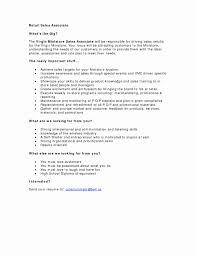 Retail Clerk Resume Luxury Sample Sales Position Fresh Cashier Example