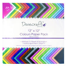 Dovecraft Coloured 12x12 Paper 120gsm