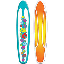 Decorative Surfboard Wall Art by Amazon Com Jointed Surfboard Party Accessory 1 Count 1 Pkg