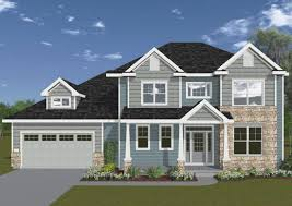 Pretty Exterior Design Of Double Tier Veridian Homes With Dark Roof Matched Horizontal Siding In