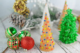 Rice Krispie Christmas Tree Pops by Christmas Tree Cake Cones Savory Experiments