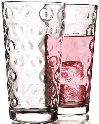 Circleware Circles Drinking Glasses - Set of 4, 17oz