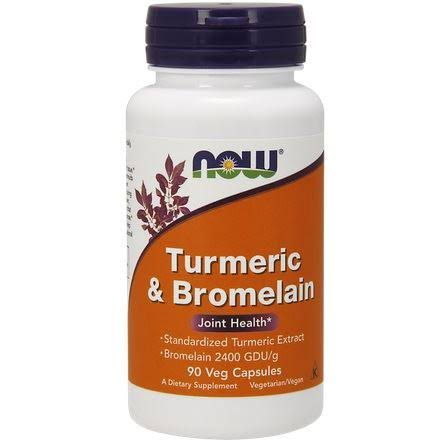 Now Foods Turmeric and Bromelain - 90 Veg Capsules