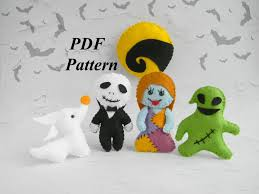 Oogie Boogie Halloween Stencil by Halloween Felt Pattern Nightmare Before Christmas Ornament Pdf