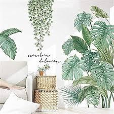 wandtattoo diy wandsticker wandaufkleber grüne pflanze blätter wandtattoos für wohnzimmer schlafzimmer flur kühlschrank a