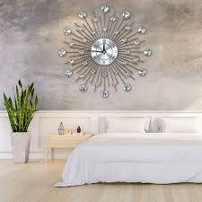 modern wanduhr wand uhr wohnzimmer silber aluminum