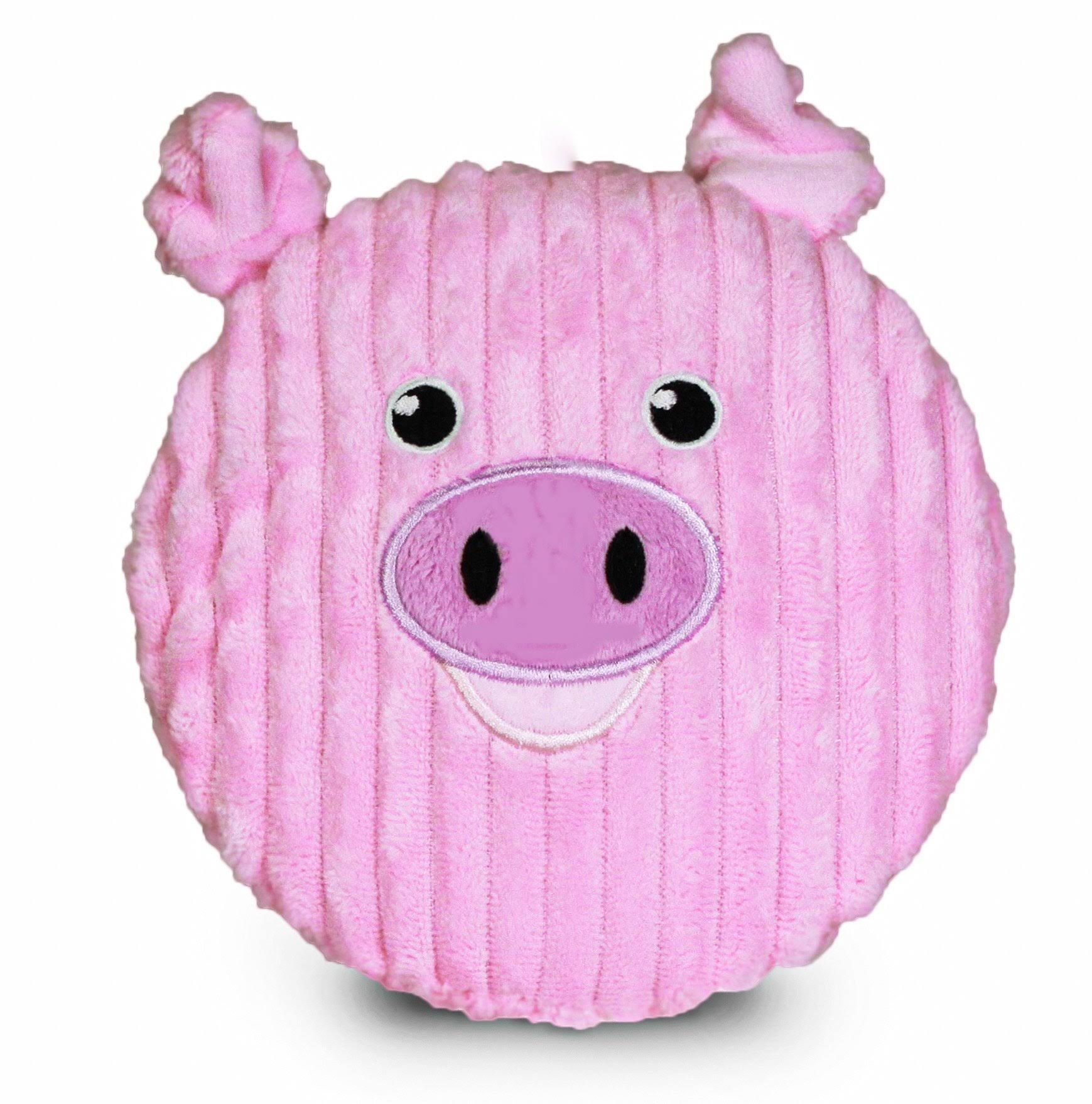 Pet Qwerks Big Squeaker Pig Dog Toy, 7-in