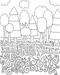 Coloring Book Page Grow