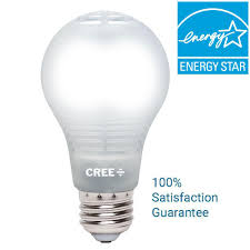 60w equivalent daylight a19 dimmable led light bulb with 4 flow