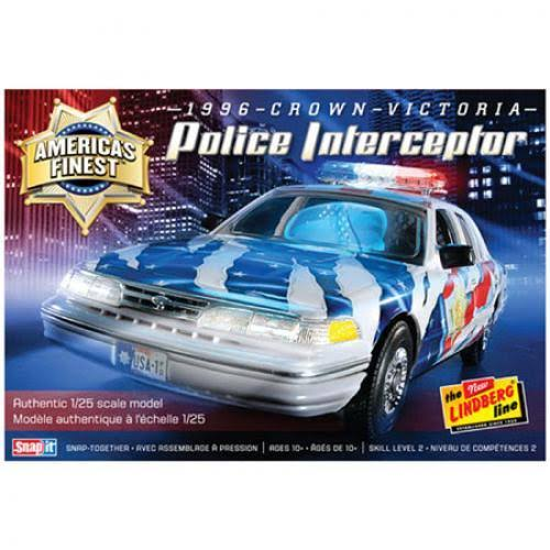 Lindberg America's Finest Crown Victoria Police Cruiser Model Car Kit
