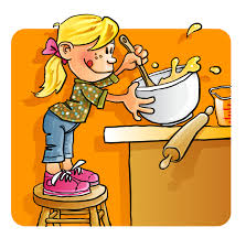 Standstir Kids Cooking With Mom Clipart