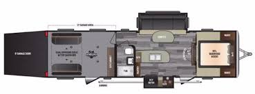 2016 5th Wheel Toy Hauler Floor Plans by Keystone Impact Rvs For Sale Camping World Rv Sales