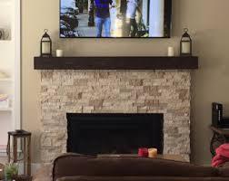 dark walnut fireplace mantle rugged wood mantel floating