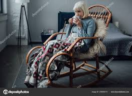Senior Woman Sitting Wicker Rocking Chair Blanket Drinking Coffee ... Rocking Chair On The Wooden Floor 3d Rendering Thonet Chair At Puckhaber Decorative Antiques Man Sitting Rocking In His Living Room Looking Through Costway Classic White Wooden Children Kids Slat Back Fniture Oak Creating A Childrens From An Old Highchair 6 Steps Asta Recline Comfy Recliner Mocka Au Happy Pregnancy Sitting On Stock Image Of Jackson Rocker Click Black New Price Vintage Hitchcock