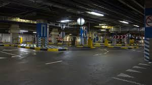Motion In Underground Parking Of Hypermarket Shopping Mall Time Lapse Stock Video Footage