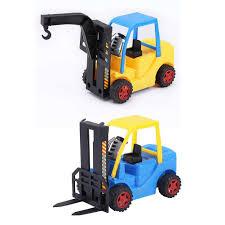100 Toy Forklift Truck Engineer Crane Car Model Kid Action Figures Vehicle