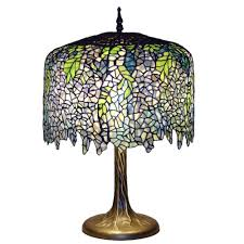 Home Depot Tiffany Lamp by Serena D U0027italia Tiffany Wisteria 27 In Bronze Table Lamp With