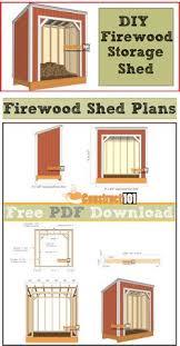 shed backyardshed shedplans 8 u0027 x 8 u0027 firewood shed sheds
