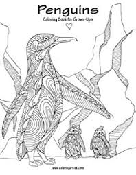 Penguins Coloring Book For Grown Ups 1 Volume